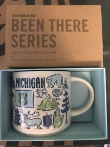 Starbucks Coffee Been There Series 14oz Mug MICHIGAN Cup w/SKU