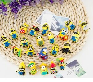 Lot of 10 PCs Despicable Me Minions Action Figures Cake Topper Mini Toy Doll Set