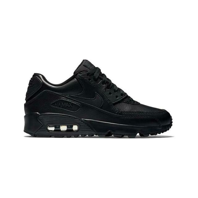 Nike WOMEN'S SHOES AIR MAX 90 LEATHER TRAINERS SNEAKERS BLACK [833412 001]