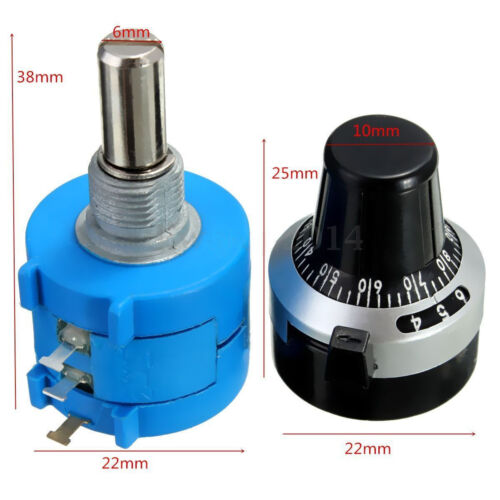 5K Ohm 3590S-2-502L Potentiometer With 10 Turn Counting Dial Rotary Knob DSUK
