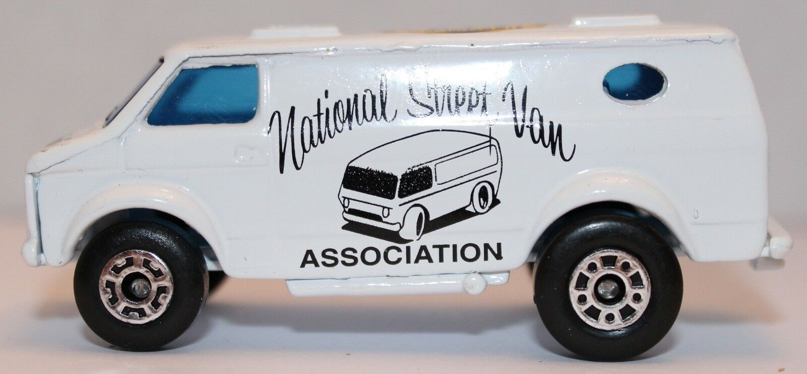 Matchbox chevy Committee van promoting the NSVA Mint perfect Boxed.