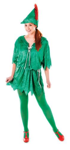 Disfraz Peter Pan señoras para mujer traje de Reino Unido 10-14