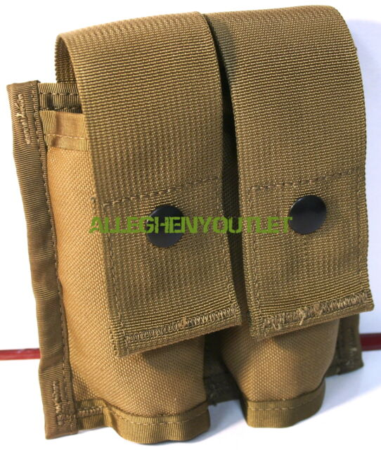 US MILITARY MOLLE II 40MM PYROTECHNIC DOUBLE POUCH USMC Coyote Brown USGI NIB
