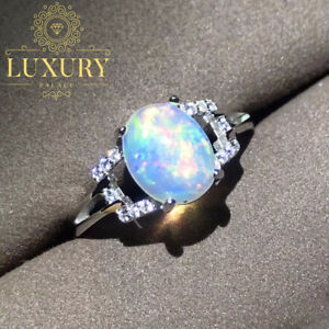 Natural-Fire-Opal-Gemstone-Solid-925-Sterling-Silver-Engagement-Ring-for-Women