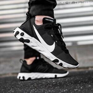 hot sale online 8276a 30cc7 Image is loading Nike-React-Element-55-Black-White-Girls-Women-