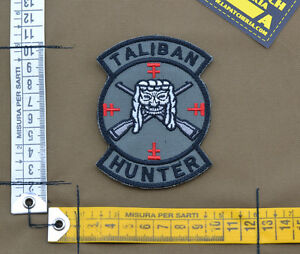 Ricamata-Embroidered-Patch-034-Taliban-Hunter-034-with-VELCRO-brand-hook