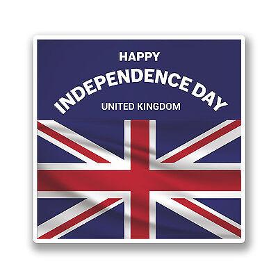 2 x 10cm Vinyl Stickers Union Jack Flag Distressed Cool Gift England UK #6161