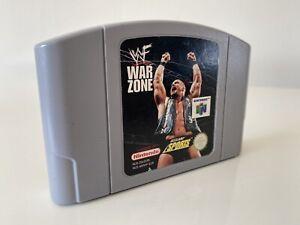 WWF zona de guerra Juego Nintendo 64 N64 solo carro PAL Reino Unido limpiado y probado