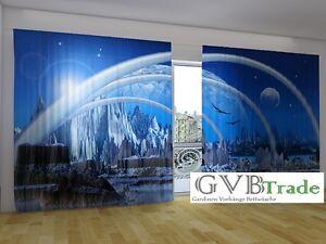 Vorhang Fotodruck fotogardinen fotovorhang panorama vorhang gardinen 3d