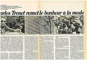 2019 DernièRe Conception Coupure De Presse Clipping 1971 (3 Pages ) Charles Trenet Forfaits à La Mode Et Attrayants