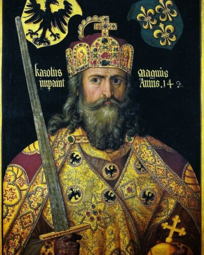 "Charlemagne I or /""Charles the Great/"" 1st Holy Roman Emperor New 8x10 Photo"