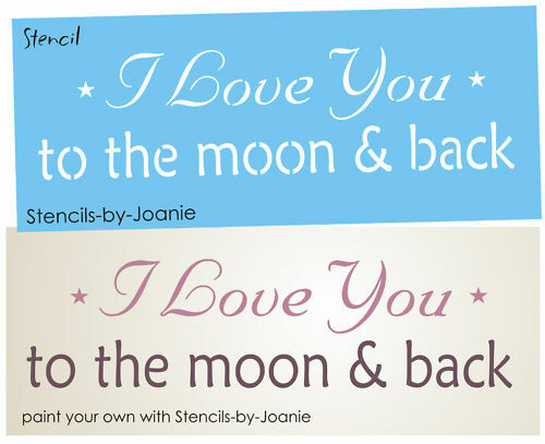 Stencil Love You Moon Back Primitiv Country Family Home Nursery Art Sign U Paint