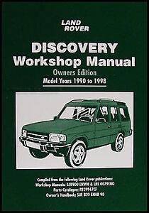 land rover discovery owners shop manual 1998 1997 1996 1995 1994 rh ebay ie 2003 Land Rover Discovery Manual Land Rover Discovery Vacuum Diagram