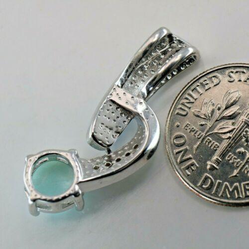 LARIMAR Pendant Genuine 925 STERLING SILVER #0568 Natural BLUE Caribbean