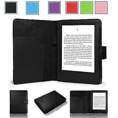 ULTRA THIN LEATHER CASE COVER FOR KINDLE WITH TOUCH (7th Generation 2014)
