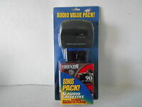 Alaron Personal Stereo Cassette Player With 6 Maxwell Cassettes - In Package