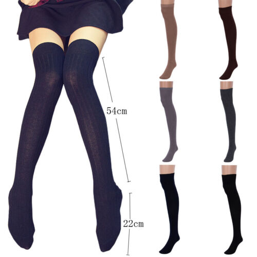 USA 1 pair Women Thigh High OVER the KNEE Socks Long Cotton Stockings #w