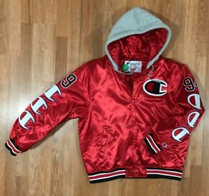 comprare popolare a74ab 87bb9 Details about SUPREME®/CHAMPION® HOODED SATIN VARSITY JACKET - GIACCA  SUPREME CHAMPION WEEK 7