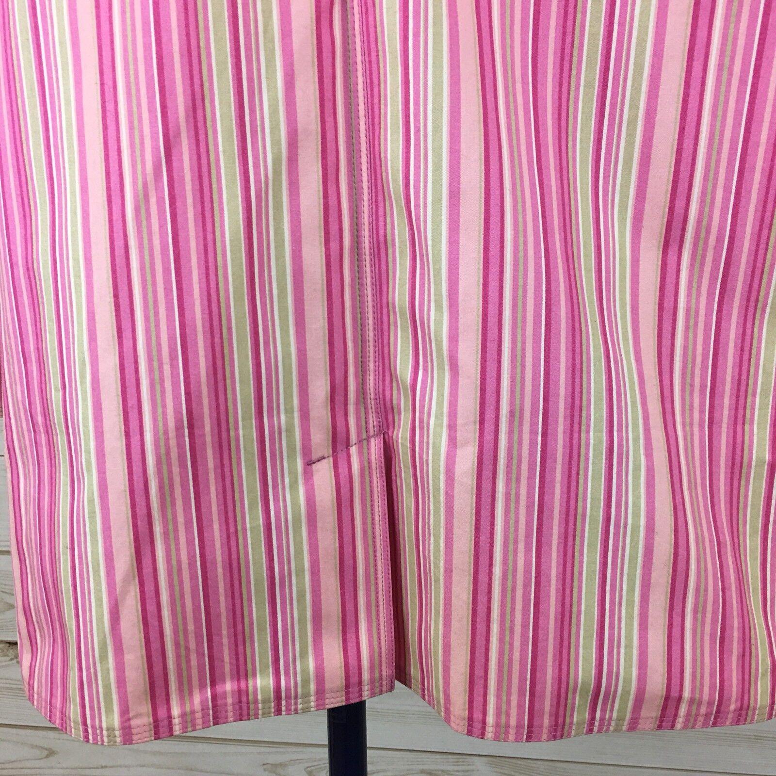 NEW NEW NEW L.L. Bean Women's Petite Pink Stripe Macintosh Water Resistant Coat. PXL df9d7a