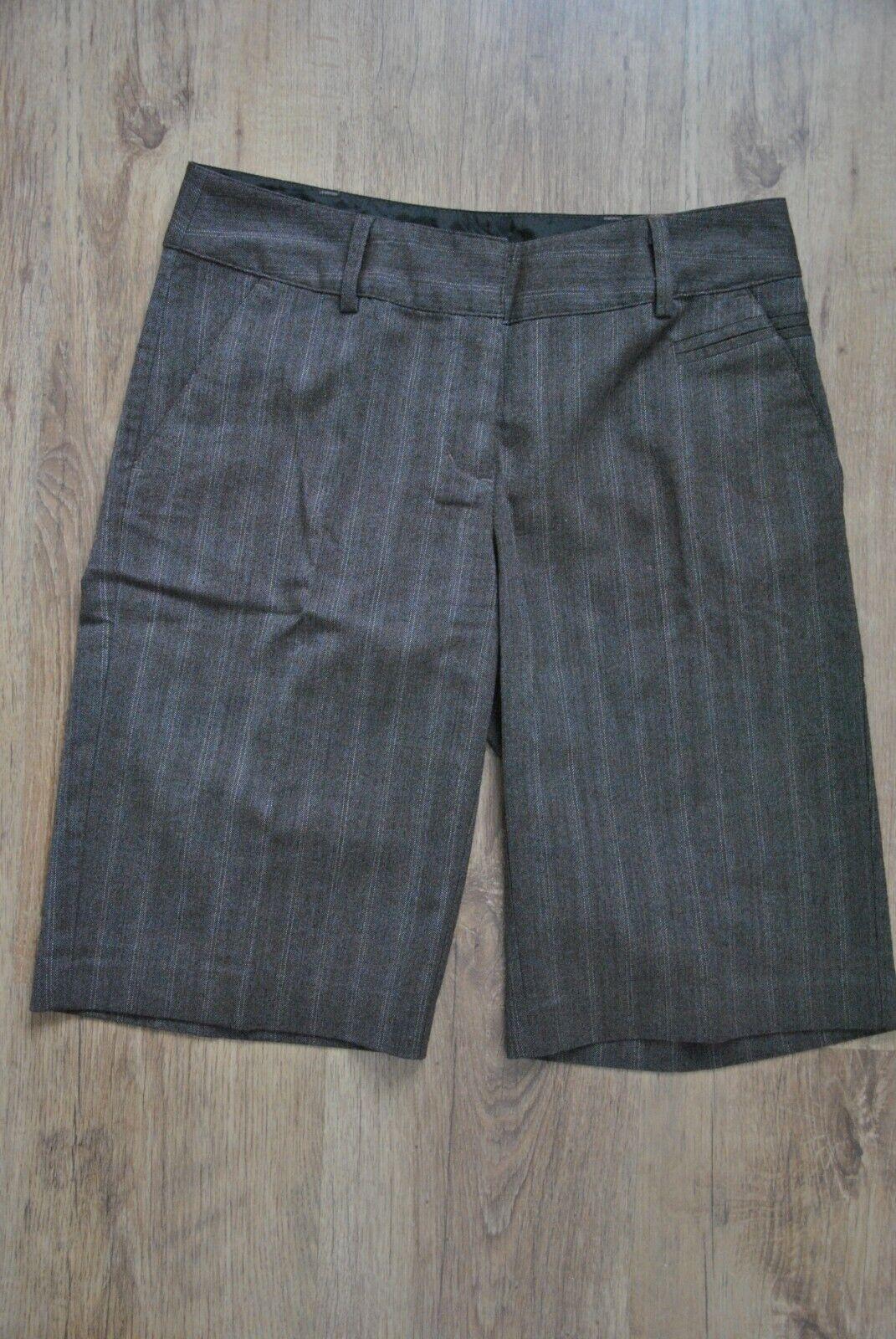 Vero Moda Gr. 36/ S Business Bermuda Shorts Braun Nadelstreifen