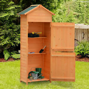 New-Wooden-Garden-Shed-Apex-Sheds-Tool-Storage-Cabinet-Unit-Utility-w-Shelves