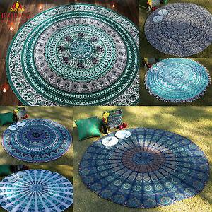 Round-Tapestry-Beach-Towel-Yoga-Mat-Indian-Mandala-Throw-Tablecloth-Home-Decor