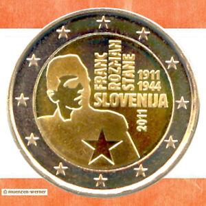 Sondermuenzen-Slowenien-2-Euro-Muenze-2011-Rozman-Sondermuenze-zwei-Gedenkmuenze