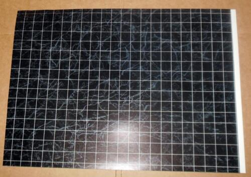 "BLACK MARBLE DOLLHOUSE FLOORING JR ENTERPRISE 11/"" X 15/""  DOLLHOUSE FURNITURE"