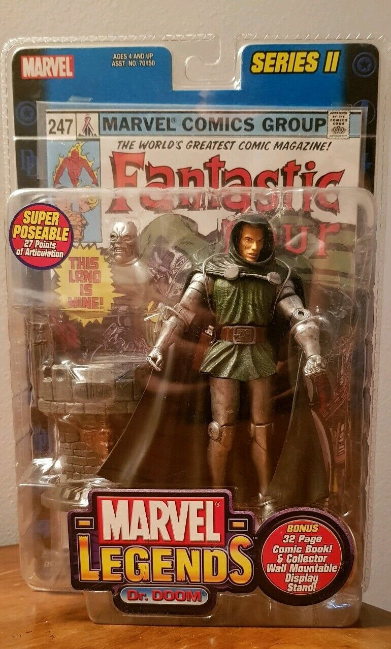 MARVEL LEGENDS dr. Doom series 2 ii toy biz hasbro fantastic 4 four universe lee