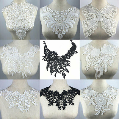 DIY Applique Lace Fabric Sewing Embellishments Trims Neck Collar Crafts Decor