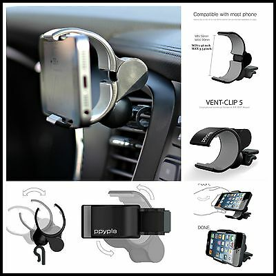 Ppyple VENT CLIP5 Car Air Vent Universal Car Mount Holder Cradle iPhone Samsung