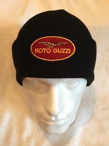 BEANIE-HAT-MOTO GUZZI LOGO IN BRODERY 100/% COTTON SISE EXENTISIBLE