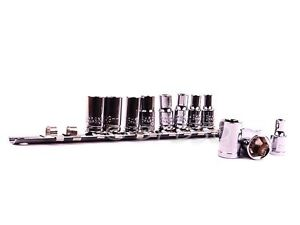 034-LOOK-034-11pc-1-4-034-DR-METRIC-SOCKET-SET-SIZE-4MM-13MM-WITH-RAIL-UK-STOCK