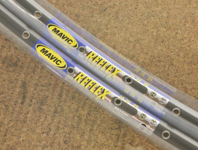 Set Vintage (2) nos nuevo Mavic Reflex Tubular Llantas Rimset 36h 700c