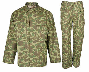 sold worldwide best choice new style Details about WW2 Us Marine Corps Army Pacific Camouflage Jacket & Trousers  Uniform Set L