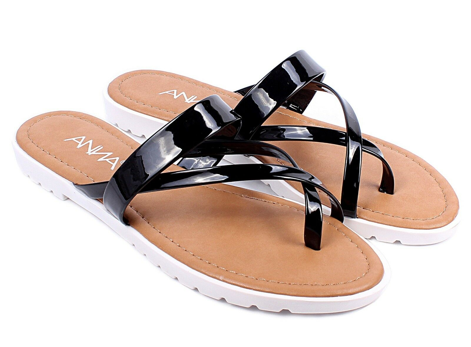 Black Casual Slip On Home Outside Stylish Women 6 Flip Flops Sandals Size 6 Women - 10 a284a7