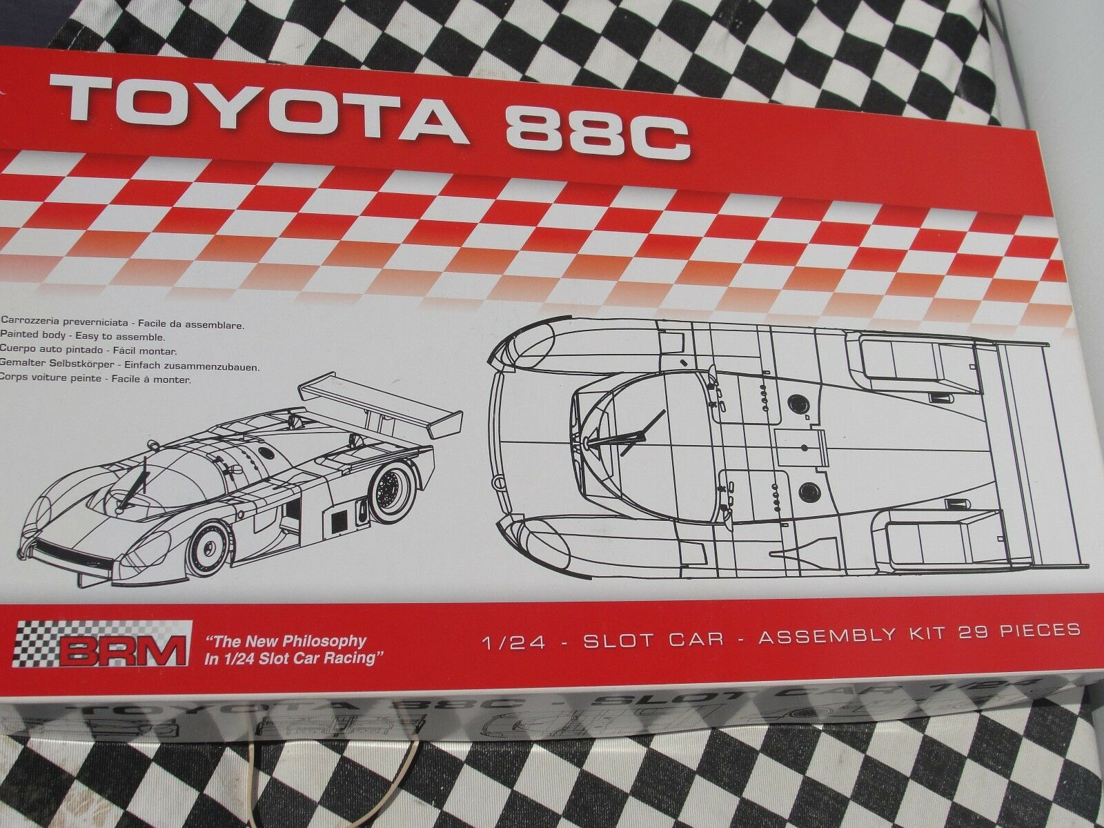 BRM TOYOTA 88C ASSEMBLY KIT CAR  1 24 SLOT BRAND NEW IN BOX