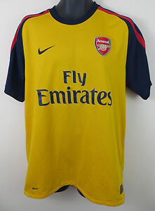 separation shoes 6fb03 2c173 Details about Nike Arsenal Football Shirt Away 2008-09 Soccer Jersey Retro  Maglia Mens Large L