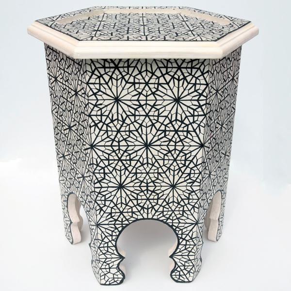 Marokkanischer Teetisch Orientalische Beistelltisch Ankabuta 52cm *44cm