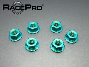 RacePro-Kawasaki-ZX10R-E8-E9-Ninja-2008-x6-Titanium-Rear-Sprocket-Nuts-Green