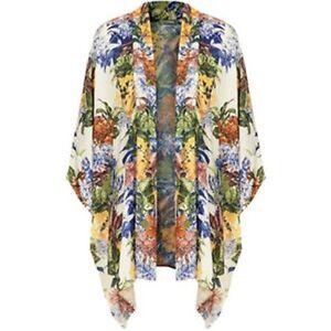 09d227ce8fa Topshop by LOVE Floral Paisley Print Cape Kimono UK 8 - 10 EURO 36 ...