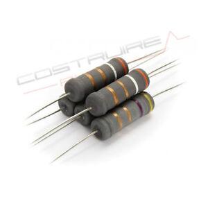 2x RESISTENZA MOX 22 Ω OHM 5 watt  5/% audio Crossover metal oxide resistor