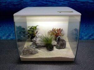 Fluval-Flex-34l-Nano-Aquarium-weis-Komplettaquarium-Filteranlage-RGB-Licht