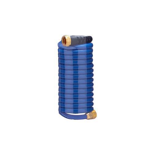 Hosecoil 15' bluee Self Coiling Hose W Flex Relief