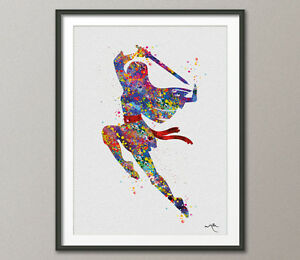 Mulan Disney Princess Watercolor Print for Kids Disney Fine Art Print Children 1