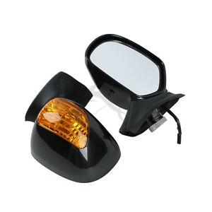 Black-Rear-View-Mirror-Orange-Signal-Lens-For-Honda-Goldwing-GL-1800-2001-2012