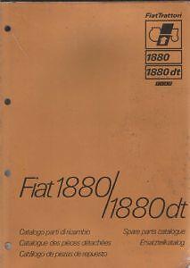 fiat tractor 1880 1880dt parts manual trattori ebay rh ebay co uk Fiat Tractors USA Fiat Tractor Italy