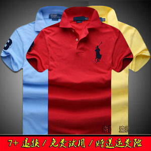 New-Hot-POLO-Men-039-s-Casual-Shirt-Short-Sleeve-Shirts-T-shirts-size-S-6XL-11Colour