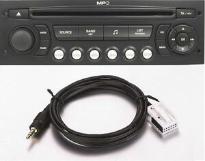 cable auxiliaire mp3 citroen c4 autoradio rd4 neuf ebay. Black Bedroom Furniture Sets. Home Design Ideas