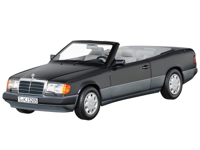 Mercedes Benz 300 CE-24 Cabriolet, A124, (1992-1993), blauschwarz, Norev, 1 18